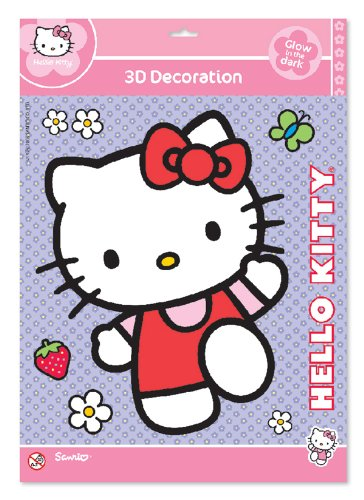Hello Kitty - Glow 3D Aufkleber