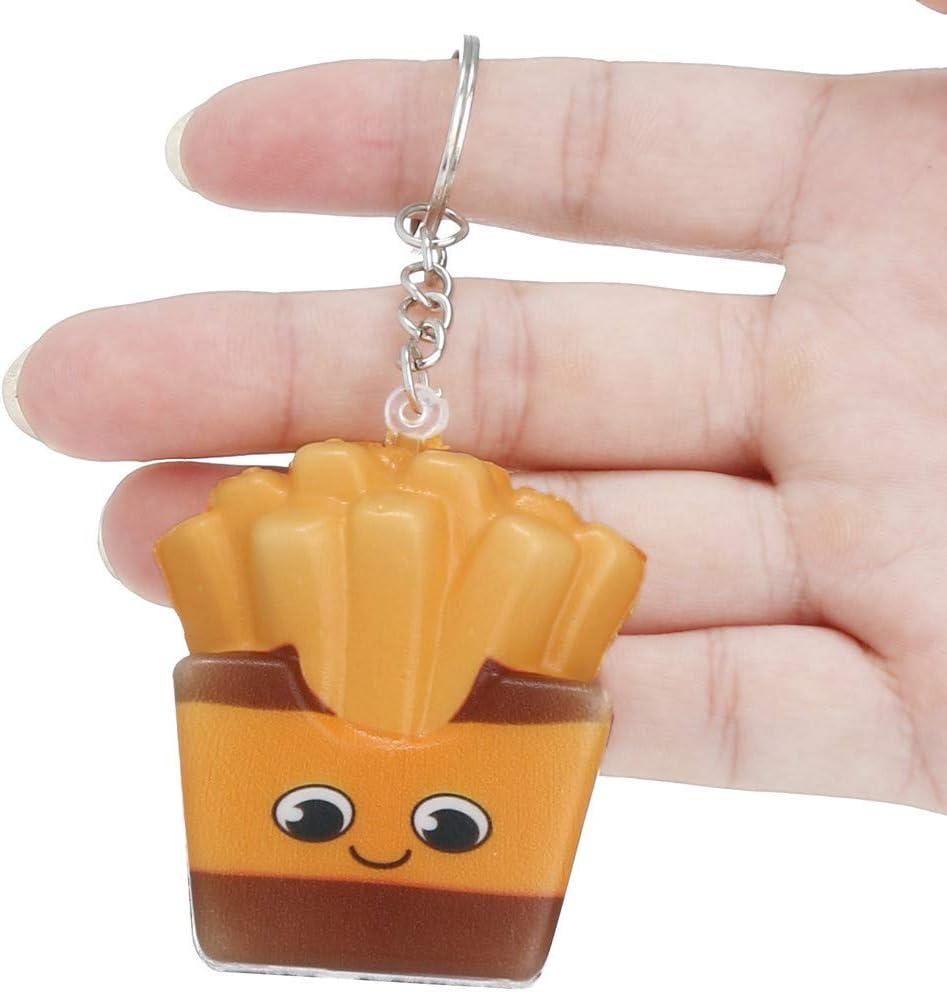AOGOTO Squishies Kawaii Cartoon Chips langsam steigende Creme duftenden Schl/üsselbund Stressabbau