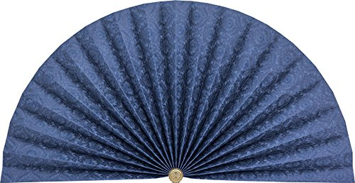 Neat Pleats Decorative Fan, Hearth Screen, or Overdoor Wall Hanging - L438 - Royal Blue with Filigree Filigree Fan
