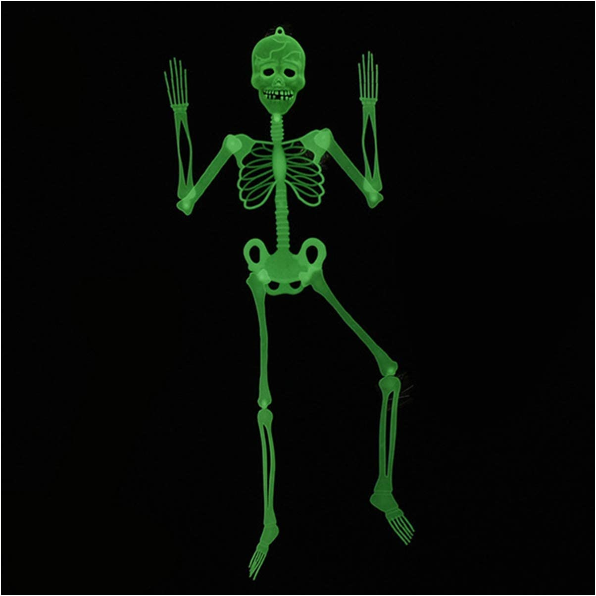 Halloween Decoration Decor Posable Skeleton - Luminous Noctilucent Life Size Plastic Skeleton, Outdoor Crazy Scary Hanging Props, Clearance