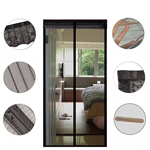 Clavi Mesh Screen Door with Magnets Heavy Duty Bottom Patio Curtain Keep Bugs Flies Insects Out, Actual Size 35.4