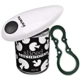 Electric Can Opener, Restaurant can opener, Full – Automatic Hands Free Can Opener, Chef's Best Choice (White)