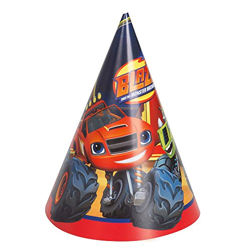 Blaze and the Monster Machines Party Hats, 8ct