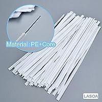 20Pcs LASOA Nose Bridge Clip Plastic White Bendable Nose Wire Nose Bridge Wire Cable for Handmade Crafts DIY