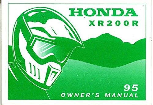 31KT0670 1995 Honda XR200R Motorcycle Owners Manual ebook