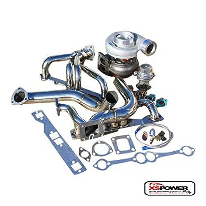 amazon com: xs-power sbc small block sb chevy gt45 single turbo setup  manifold kit wastegate oil line: automotive