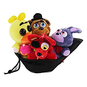 "4pcs Five Nights at Freddy's Inspired Plush 5.5"" Dolls Stuffed, with gift bag - 51X 2BfjiAa1L - 4pcs Five Nights at Freddy's Inspired Plush 5.5″ Dolls Stuffed, with gift bag"
