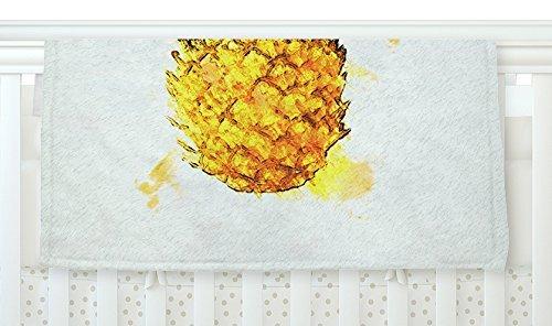 KESS InHouse Oriana Cordero Slice of Summer White Yellow Fleece Baby Blanket 40 x 30 [並行輸入品]   B077Z4H9JD