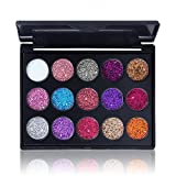 ErYao Shimmer Glitter Eye Shadow Powder Palette Matte Eyeshadow Cosmetic Makeup (A)