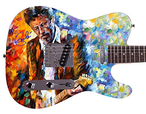- Eric Clapton Autographed Signed Custom Graphics Guitar