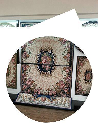 (Lady Night Fashion Anti-Skid Jacquard Carpet for Living Room/Dining Bedroom Mat Floral Modern Pattern Absorbent Non-Slip Modern Carpet Mug,Blue,70Cmx120Cm)
