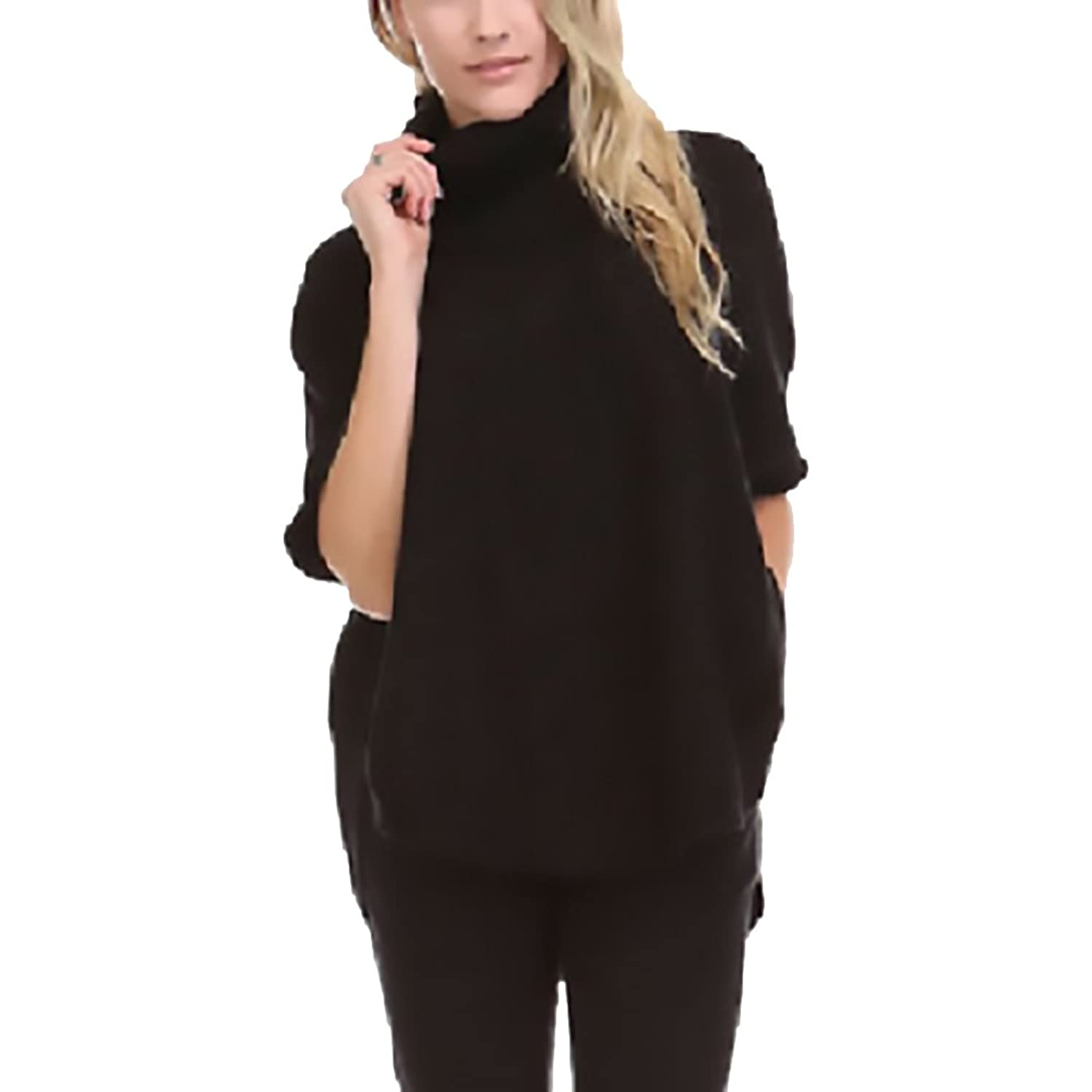 SISTERS WOMENS COWL NECK PONCHO SWEATER TOP