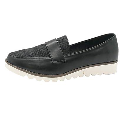 Yvelands Retro Mujeres Liquidación Ronda Cabeza Pisos Mocasines Plataforma Mocasines Guisantes Zapatos de Barco: Amazon.es: Ropa y accesorios