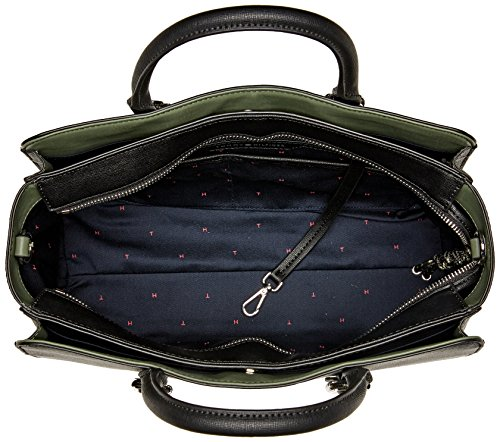 Tommy Hilfiger Th Buckle Satchel, Borse a tracolla Donna Nero (Black)