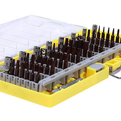 Alloet 60in1 Screwdriver Disassemble Tool Set Mobile Phone Car Repair Tools (yellow) by Alloet (Image #6)