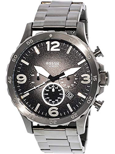 Fossil Men's JR1437 Nate Chronograph Smoke Stainless Steel W