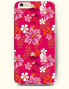 iPhone 6 Plus Case 5.5 Inches Lily and Big Blooming Flowers - Hard Back Plastic Case OOFIT Authentic