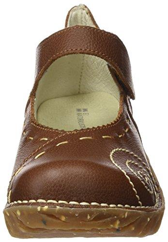 El Naturalista N095 Soft Grain Yggdrasil, Zapatos de Tacón con Punta Cerrada para Mujer Marrón (Wood)