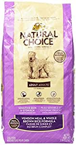 NATURAL CHOICE Sensitive Skin and Stomach Adult Venison Meal and Whole Brown Rice Formula - 5 lbs. (2.27 kg)
