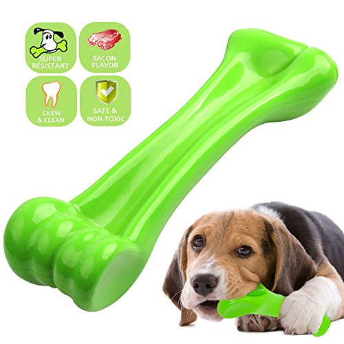 ONEISALL Durable Dog Chew Toys Bone Chew Toy for Puppy Dogs— Indestructible for Aggressive Chewers S (Shih Tzu Bone)