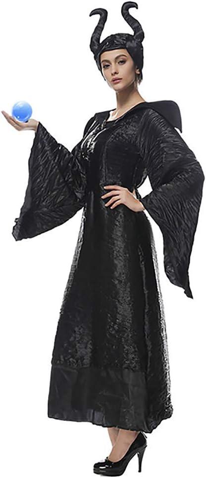 JIANG BREEZE Disfraz de Bruja Negra Malvada de Halloween Cosplay ...