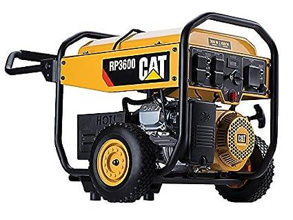 Cat RP3600 3600 Running Watts 4500 Starting Watts Gas Powered Portable Generator 490 6488
