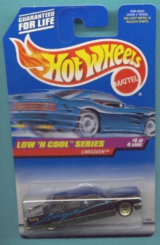 Pro Rodz Series - Mattel Hot Wheels 1998 1:64 Scale Low N Cool Series Black Limozeen Die Cast Car 4/4