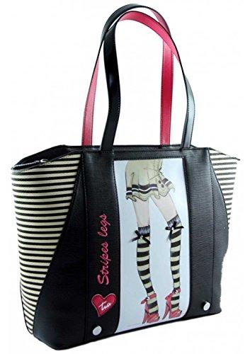 BRACCIALINI Stripes legs Damentasche B9783