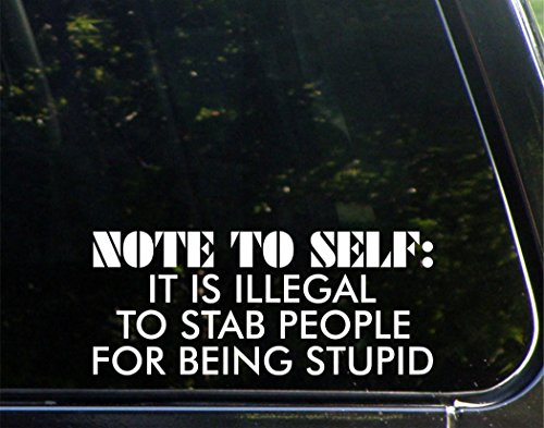 Diamond Graphics Note to SELF: It is Illegal to Stab People for Being Stupid (9