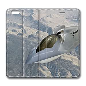 iPhone 6 Case, iPhone 6 Leather Case, Fashion Protective PU Leather Slim Flip Case [Stand Feature] Cover for New Apple iPhone 6(4.7 inch) - Boeing Military Aircraft