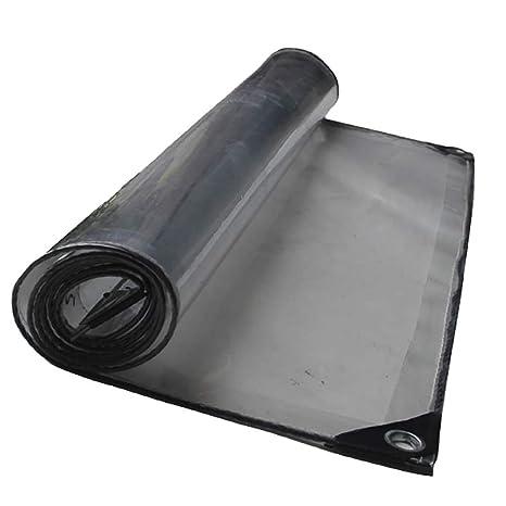 Sección Gruesa Tarima de Poliéster Transparente Impermeable Lona Sun Room Planta de cobertizo, 420g /