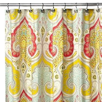 Amazoncom Echo Design Jaipur Fabric Shower Curtain Home Kitchen