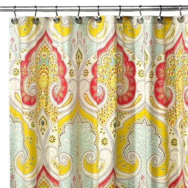 Amazon Echo Design Jaipur Fabric Shower Curtain Home Kitchen
