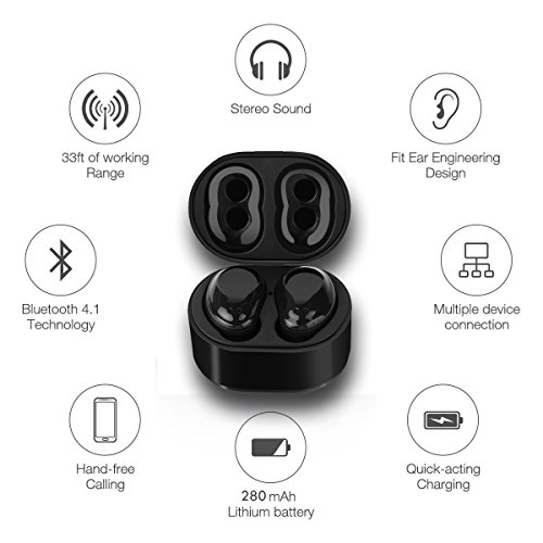 Ultra Light Mini Cordless Bluetooth Earbuds w/Magnetic Charg