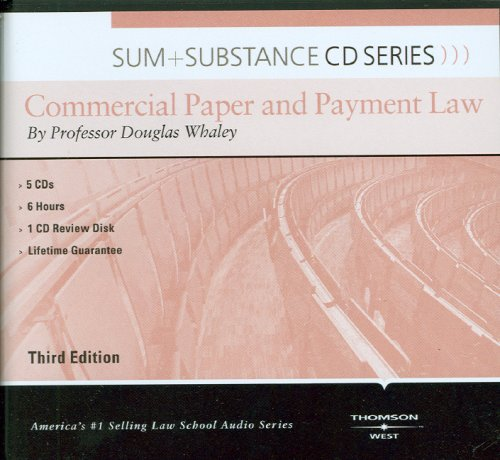 Sum and Substance Audio on Commercial Paper and Payment Law by West Academic Publishing