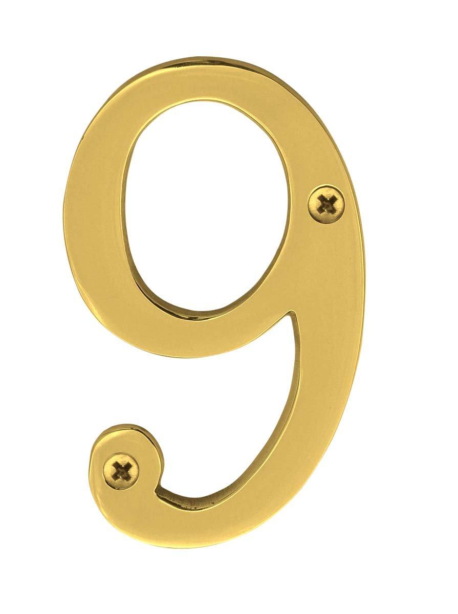 Knoxx Hardware B4n508 Polished Brass Address Numbers