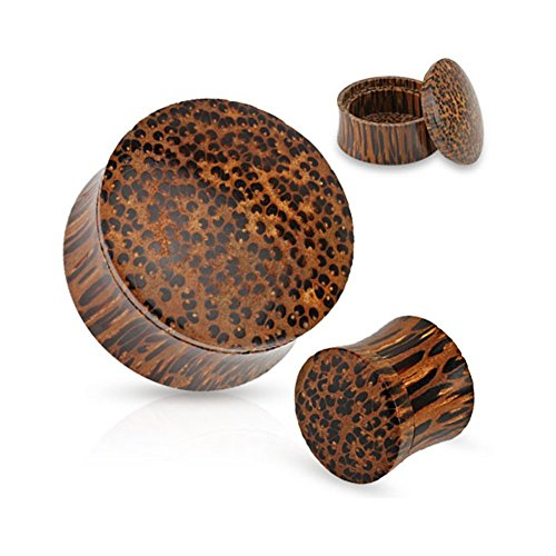 (Pair Of Stash Organic Coconut Wood Plugs, Gauge: 9/16
