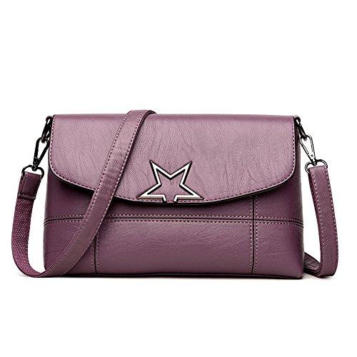 Hombro Package Bolsa Negro Nueva De Violet Casual Bandolera Bolsa Madre Bolsa La Meaeo Señorita nPRqxaP