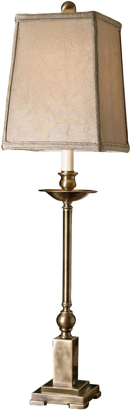 Uttermost 29427 1 Lowell Buffet Lamp 8 5 X 8 5 X 34 Lightly Aged Bronze Table Lamps