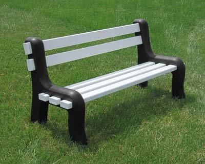 Marvelous Amazon Com Superior Park Bench White With Black Legs 60L Ibusinesslaw Wood Chair Design Ideas Ibusinesslaworg