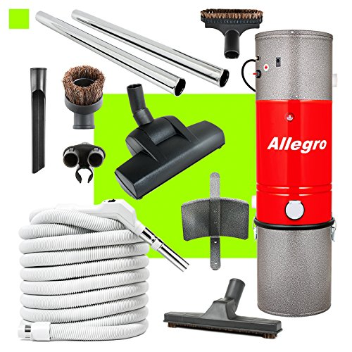 Allegro MU4500 Top Quality Central Vacuum Deluxe Air Package 30 ft. hose