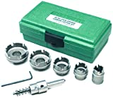 Greenlee 660 Kwik Change Stainless Steel Hole Cutter Kit, 7 Piece