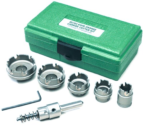 (Greenlee 660 Kwik Change Stainless Steel Hole Cutter Kit, 7-Piece)