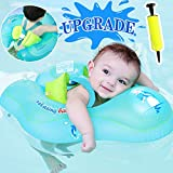 【Upgrade】Baby Swimming Float Ring - Baby Spring Floats Swim Trainer Newborn Baby Kid Toddler Age 3-48 Month 11-48 Lbs Summer Outdoor Beach Water Bath Toy Swimming Pool Accessories