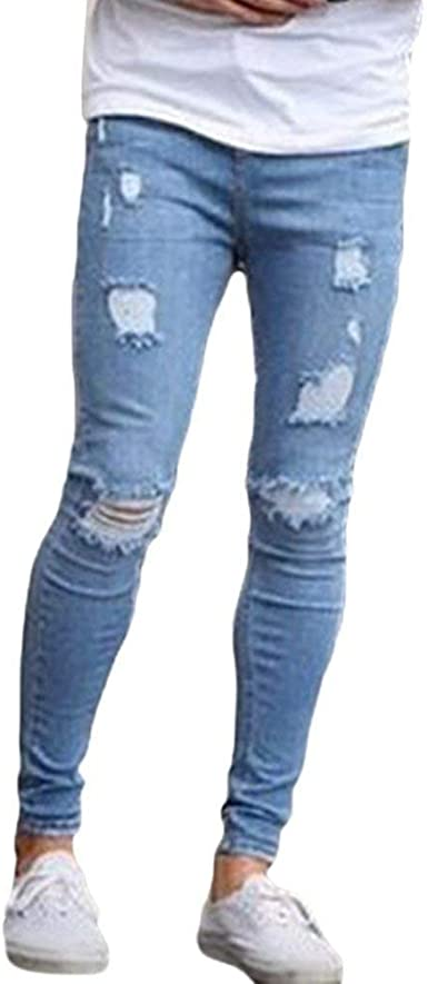 Bolawoo Pantalones De Mezclilla Para Moda Casual Pantalones Hombre De De Mode De Marca Amazon Es Ropa Y Accesorios