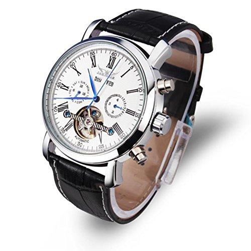 JARAGAR automático negro, blanco reloj ejército Militar para hombre mecánico reloj de pulsera