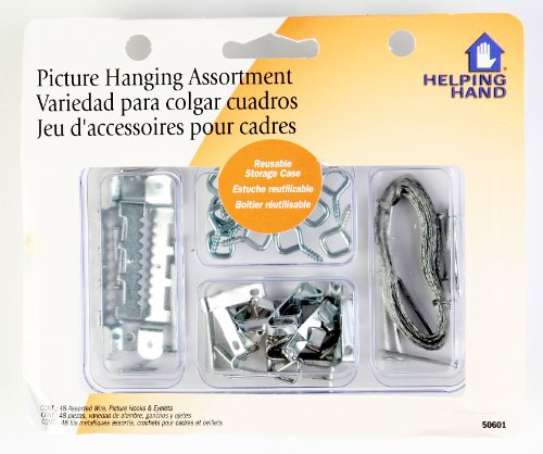Helping Hand Picture Hanging Kit, Set of 48 Assorted Screws, 3-Pack - Multi Pack Eyelets