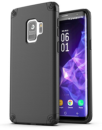 Galaxy S9 Phone Case - Encased [Nova Series] Dual Layer Protective Cases Samsung Galaxy S9 (2018 Release) Smooth Black