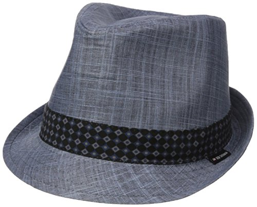 Ben Sherman Men's Textured Linen Fedora Hat