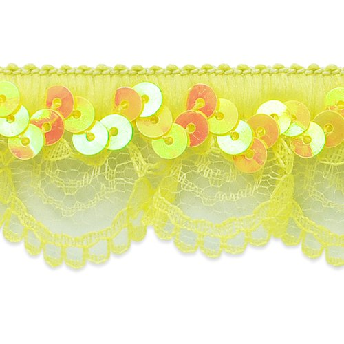 Sequin Trim Scallop (Expo International Iridescent Sequin and Scallop Ruffle Stretch Trim, 20-Yard)